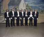 Members of the Reception Committee at the Krewe of the Athenians Ball at the Montgomery Civic...