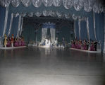 King and queen on stage at the Krewe of the Athenians Ball at the Montgomery Civic Center in...