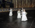 Little girls at the Krewe of the Athenians Ball at the Montgomery Civic Center in Montgomery,...