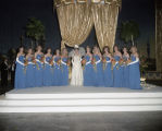 Queen and attendants on stage at the Krewe of the Athenians Ball at the Montgomery Civic Center in...