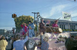 """Tin Woodman"" float in the Krewe of the Phantom Host parade on Montgomery Street in..."