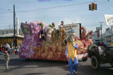 """The Phantom Host Presents The Wizard of Oz"" float in the Krewe of the Phantom Host..."