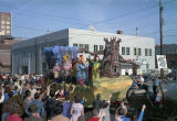 """Cowardly Lion in the Frightful Forest"""" float in the Krewe of the Phantom Host..."