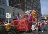 """Scarecrow in the Deadly Poppy-Field"" float in the Krewe of the Phantom Host parade on..."
