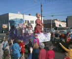"""Julius Caesar"" float in the Krewe of the Athenians parade on Montgomery Street in..."