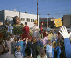 """Chief Sitting Bull"" float in the Krewe of the Athenians parade on Montgomery Street in..."