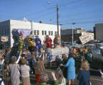 """Charlemagne"" float in the Krewe of the Athenians parade on Montgomery Street in..."