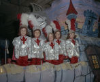 Children of the court on a float displayed at the Krewe of the Phantom Host Ball at Garrett...