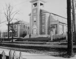 Copy photograph of St Andrew's Roman Catholic Church at 433 Clayton Street in Montgomery, Alabama.