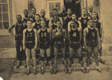 Boys' basketball team at the State Teachers College in Montgomery, Alabama, later Alabama State...