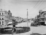 Copy photograph of Dexter Avenue in downtown Montgomery, Alabama, looking east toward the Capitol...