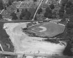 Aerial view of Paterson Field on Madison Avenue in Montgomery, Alabama.