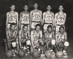 Boys' basketball team at Alabama State College for Negroes in Montgomery, Alabama.