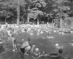 People swimming at Harrogate Springs in Wetumpka, Alabama.