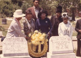"Members of the ""Ten Times One Is Ten"" Club placing a wreath on the graves of George W...."