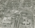 Aerial view of marchers at the City of St. Jude in Montgomery, Alabama, preparing to leave for the...