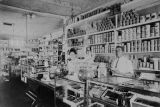 Copy photograph of the interior of an African American grocery store in Montgomery, Alabama.