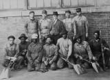 Copy photograph of employees of an electric company in Montgomery, Alabama.