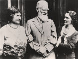 Helen Keller with George Bernard Shaw and Lady Astor.