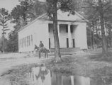 Copy photograph of a Presbyterian church building in Prattville, Alabama.
