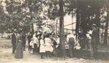 Lunch hour at a canning demonstration of the Cooperative Extension Service in Dallas County,...