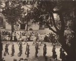 Soldiers marching in a parade during the last Confederate reunion in Mobile, Alabama.