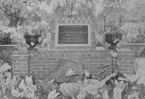 Copy photograph of a plaque at the gardens at Partlow State School and Hospital in Tuscaloosa,...