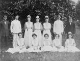 Copy photograph of a graduating class of nurses at Bryce Hospital in Tuscaloosa, Alabama.
