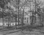 Copy photograph of a building at a mental institution, probably Partlow State School and Hospital...