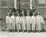 Graduating class at Liberty High School in Pickens County, Alabama.