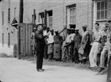 Prisoners receiving instructions outside the jail in Phenix City, Alabama.