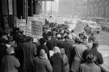 Civil rights demonstration outside the Dirksen Federal Building on South Dearborn Street in...
