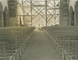 Construction of the First Methodist Church sanctuary at Cloverdale Park in Montgomery, Alabama.