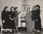 Photographs and program from the dedication of Julia Lide Hall at Fort McClellan in Anniston,...