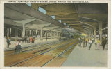 """Showing a Portion of Tracks in Terminal Station, Interior View, Birmingham, Ala."""