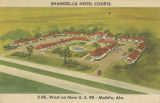 """Shangri-la Hotel Courts/ 5 Mi. West on new U.S. 90 - Mobile, Ala."""