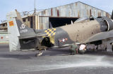 Damaged A-1E Skyraider at Bien...