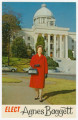 """Elect Agnes Baggett"" postcard during her campaign for Alabama State Treasurer in 1967."