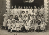 Students in the home economics class at the school in Abbeville, Alabama.