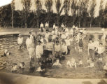 Children in a wading pool at Avondale Park in Birmingham, Alabama.