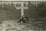Cross for Harriett Engelhardt's in an American military cemetery in Europe.