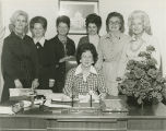 Secretary of State Agnes Baggett meeting with female elected officials serving in Alabama.