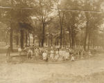 Children in a wading pool at North Birmingham Park in Birmingham, Alabama.