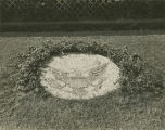 Photographs of landscaping, gardens, and lawn decorations done by German prisoners at the POW camp...
