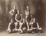 Boys' basketball team at Ensley High School in Ensley, Alabama.