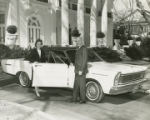 Lurleen Wallace getting into a car parked in front of the Governor's Mansion in Montgomery,...