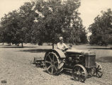 """Clifton Kirkpatrick of Selma, Alabama, cultivating his pecan grove which is one of the best..."