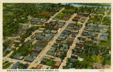 """Bird's Eye View Business Section of Gadsden, Ala."""