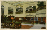 """A Part of the Main Lobby, Showing Office and Mezzanine, 'The Tutwiler,' Birmingham,..."