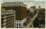 """Twentieth Street, Looking South From Y. M. C. A. Building, Birmingham, Ala."""
